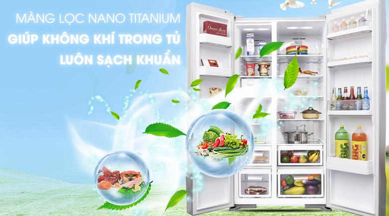 Hệ thống Nano Titanium khử mùi hiệu quả - Tủ lạnh Hitachi Inverter 605 lít R-S700PGV2 GS