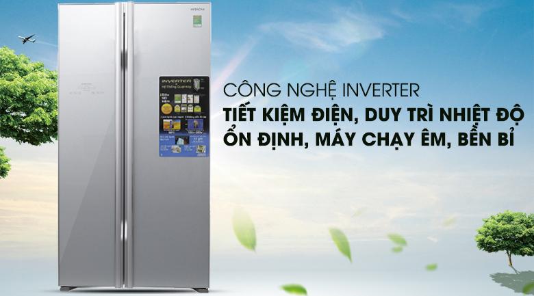 Công nghệ Inverter - Tủ lạnh Hitachi Inverter 605 lít R-S700PGV2