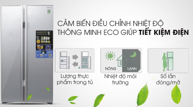 Cảm biến Eco - Tủ lạnh Hitachi Inverter 605 lít R-S700PGV2
