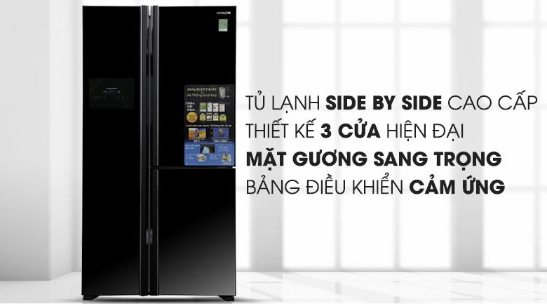 Tủ lạnh Hitachi Inverter 600 lít R-M700PGV2 GBK