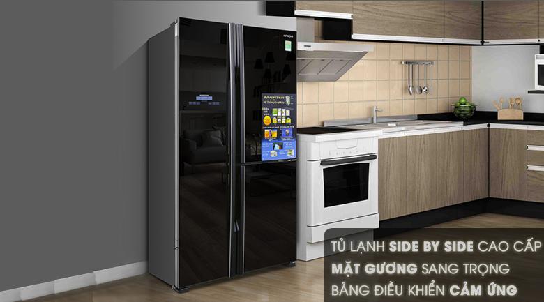 Thiết kế - Tủ lạnh Hitachi Inverter 600 lít R-M700PGV2