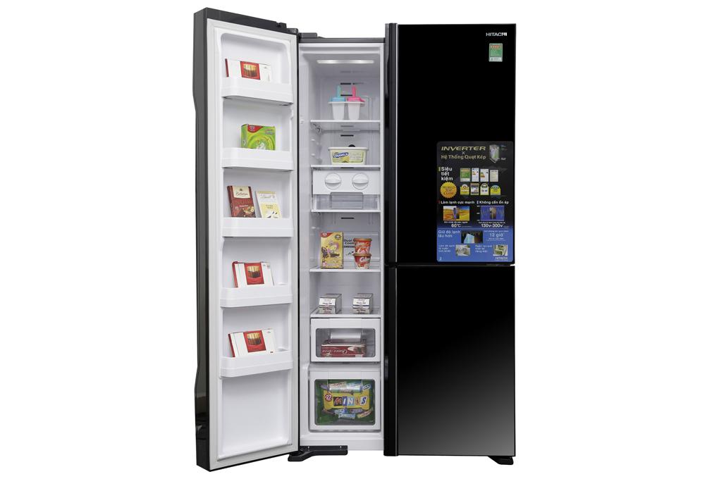 Rau củ luôn tươi ngon như mới với thiết kế hộc rau quả giữ ẩm hiện đại - Tủ lạnh Hitachi Inverter 600 lít R-M700PGV2