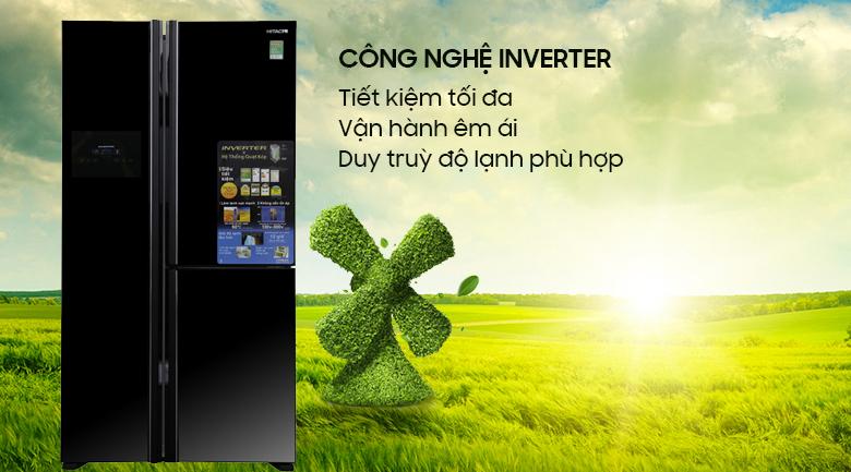 Công nghệ Inverter tiết kiệm điện năng cho gia đình - Tủ lạnh Hitachi Inverter 600 lít R-M700PGV2