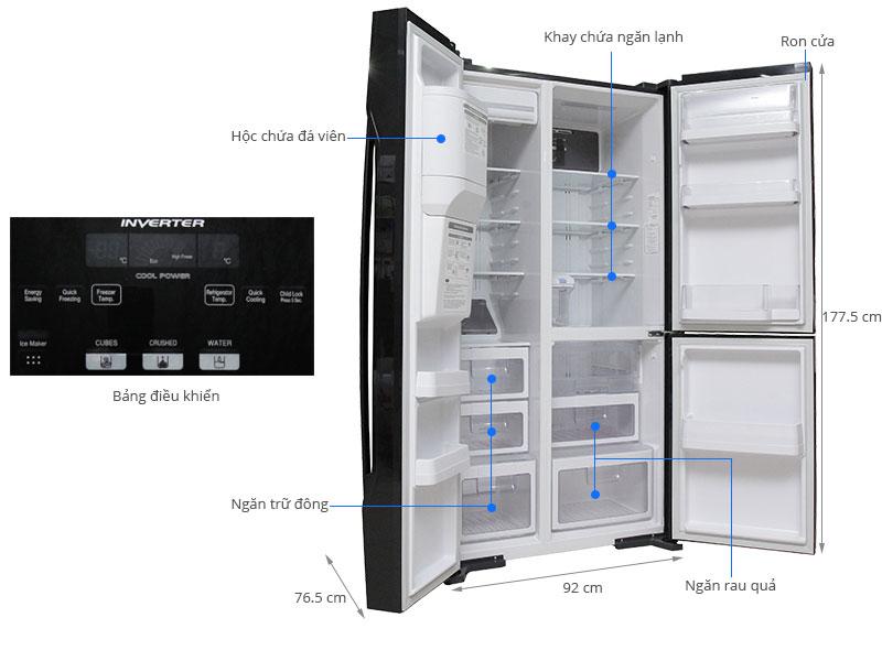 Thông số kỹ thuật Tủ lạnh Hitachi 584 lít R-M700GPGV2