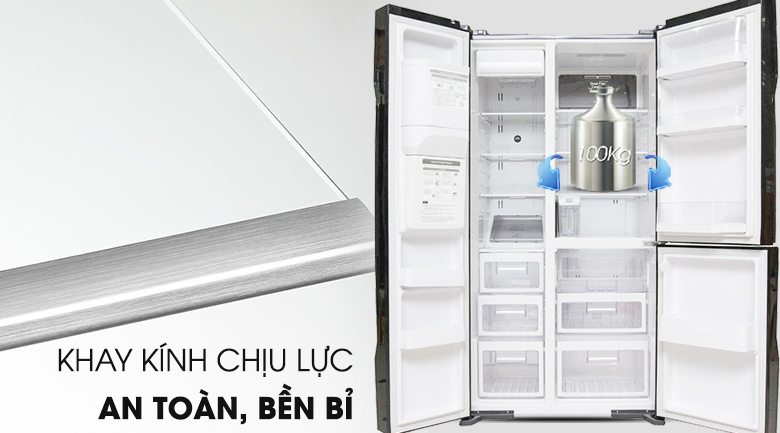 Khay kính chịu lực - Tủ lạnh Hitachi Inverter 584 lít R-M700GPGV2 GBK