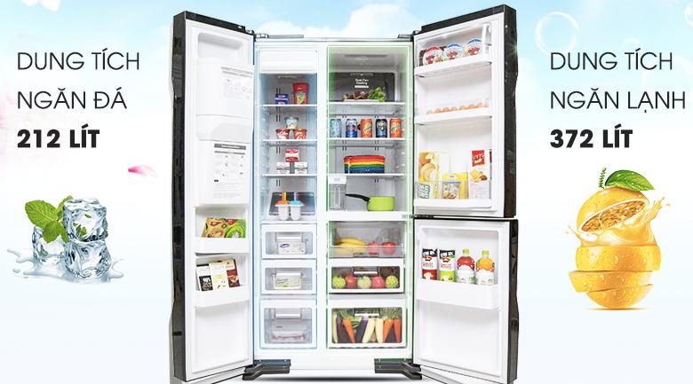 Dung tích 584 lít - Tủ lạnh Hitachi R-M700GPGV2