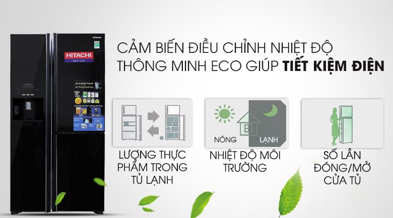 Cảm biến Eco - Tủ lạnh Hitachi Inverter 584 lít R-M700GPGV2