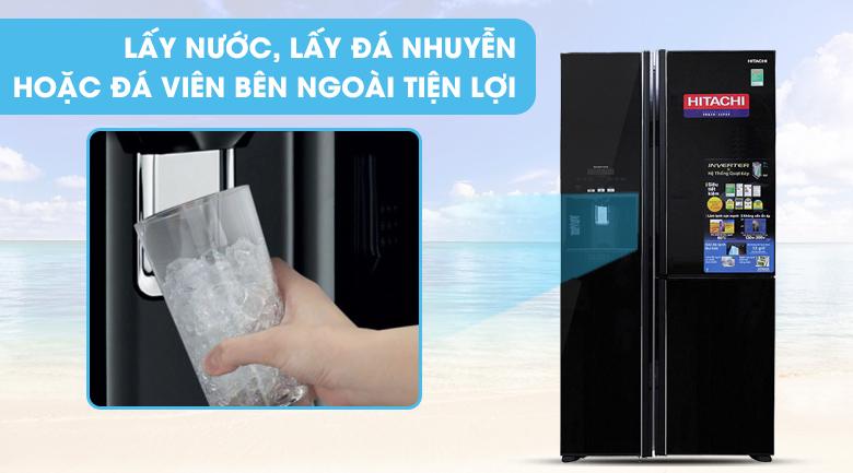 Lấy đá bên ngoài - Tủ lạnh Hitachi Inverter 584 lít R-M700GPGV2