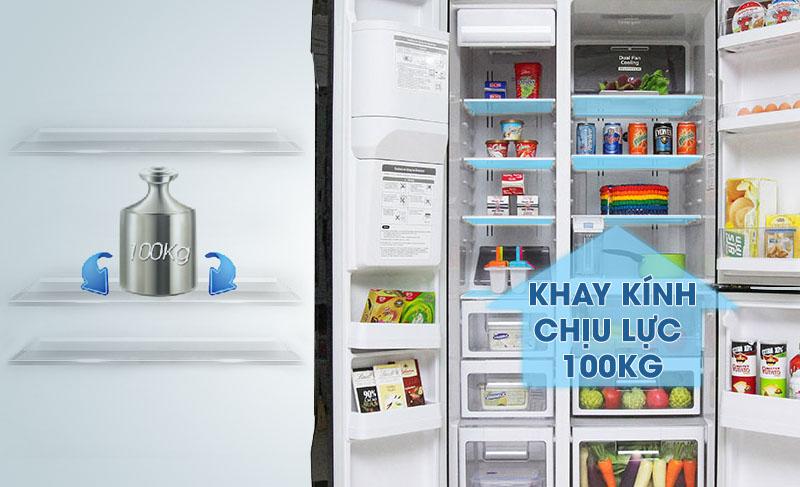 Bên cạnh đó, với khay thủy tinh chịu lực độc đáo, bạn sẽ không cần lo lắng khi cho nhiều thức ăn lên khay sẽ làm hỏng khay nữa