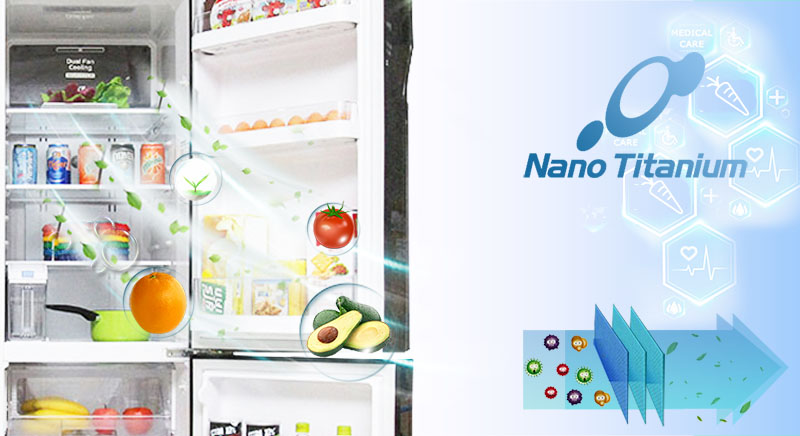 Với công nghệ Nano Titanium tiên tiến, Hitachi R-M700GPGV2 có khả năng chống nấm mốc cũng như vi khuẩn triệt để