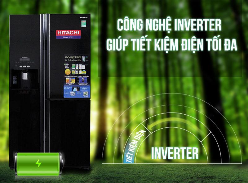Tủ lạnh Hitachi R-M700GPGV2 sở hữu công nghệ Inverter tiết kiệm điện tối ưu