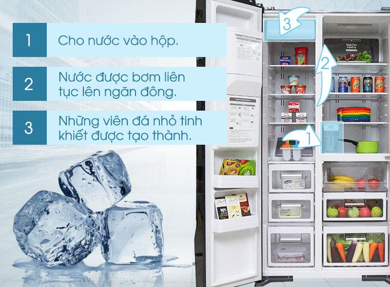 Tủ lạnh Hitachi R-M700GPGV2 có thể liên tục làm đá tự động