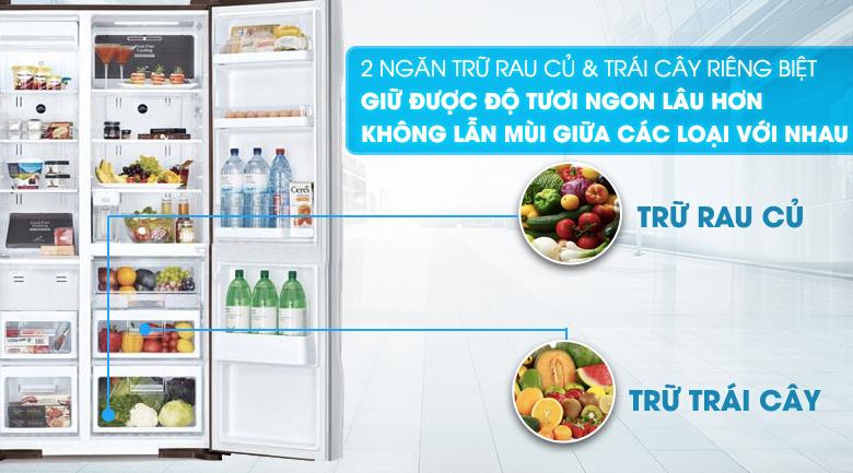 Ngăn bảo quản rau củ tiện lợi - Tủ lạnh Hitachi Inverter 589 lít R-S700GPGV2 GS