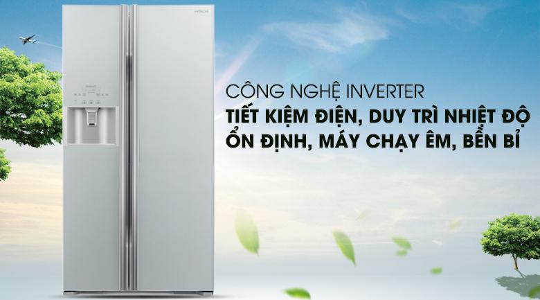 Công nghệ Inverter tiết kiệm điện năng - Tủ lạnh Hitachi Inverter 589 lít R-S700GPGV2 GS