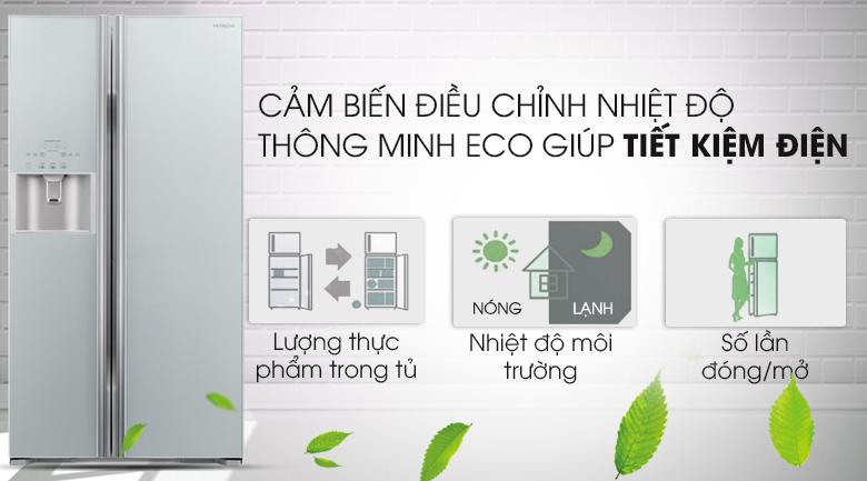 Cảm biến Eco thông minh - Tủ lạnh Hitachi Inverter 589 lít R-S700GPGV2 GS