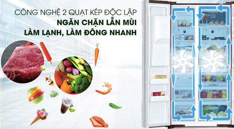 Hệ thống làm lạnh kép hiện đại - Tủ lạnh Hitachi Inverter 589 lít R-S700GPGV2 GS