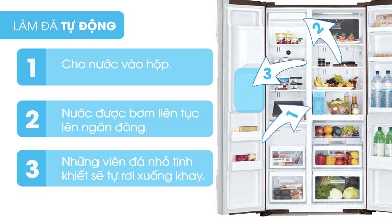 Khả năng tự động làm đá - Tủ lạnh Hitachi Inverter 589 lít R-S700GPGV2 GS