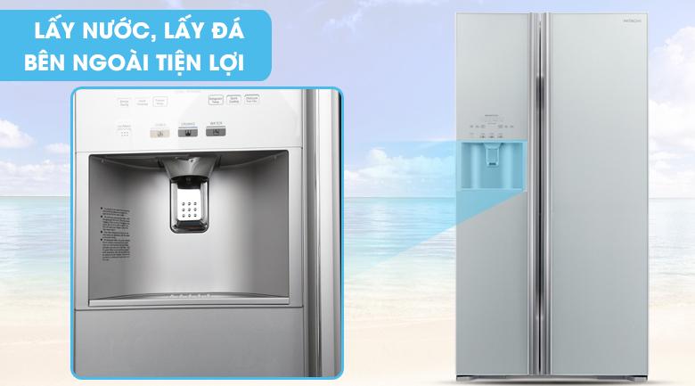 Có ngăn lấy nước bên ngoài - Tủ lạnh Hitachi Inverter 589 lít R-S700GPGV2 GS