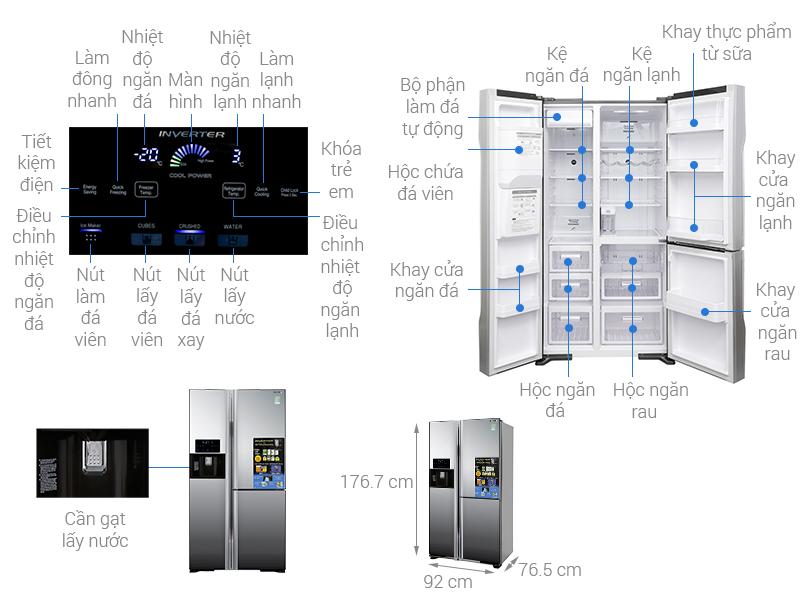 Thông số kỹ thuật Tủ lạnh Hitachi Inverter 584 lít R-M700GPGV2X