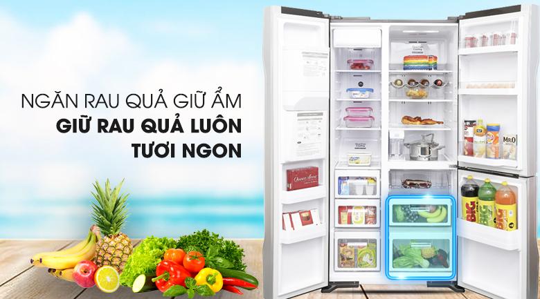 Ngăn chứa rau củ quả hiện đại - Tủ lạnh Hitachi Inverter 584 lít R-M700GPGV2X MIR