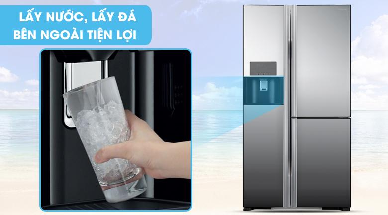 Trang bị ngăn lấy nước bên ngoài - Tủ lạnh Hitachi Inverter 584 lít R-M700GPGV2X MIR