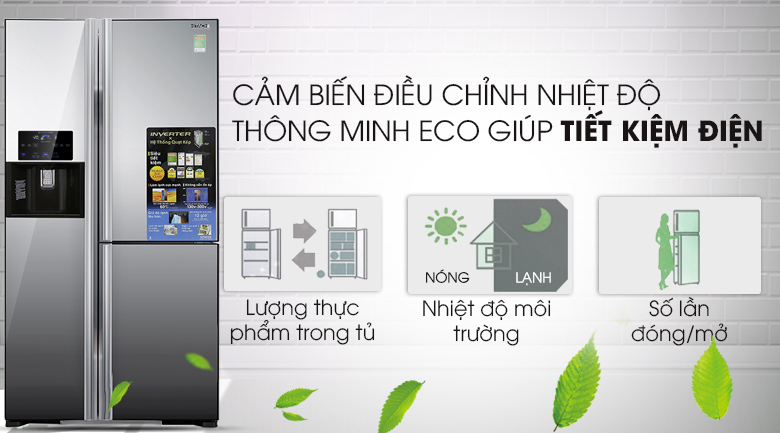 Công nghệ Eco - Tủ lạnh Hitachi Inverter 584 lít R-M700GPGV2X