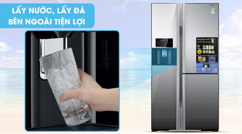 Ngăn lấy nước bên ngoài - Tủ lạnh Hitachi Inverter 584 lít R-M700GPGV2X