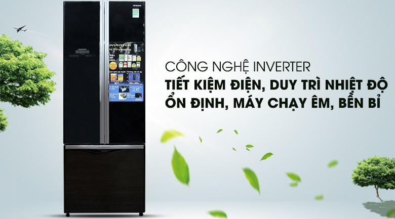 Công nghệ Inverter hiện đại  - Tủ lạnh Hitachi Inverter 382 lít R-WB475PGV2 GBK