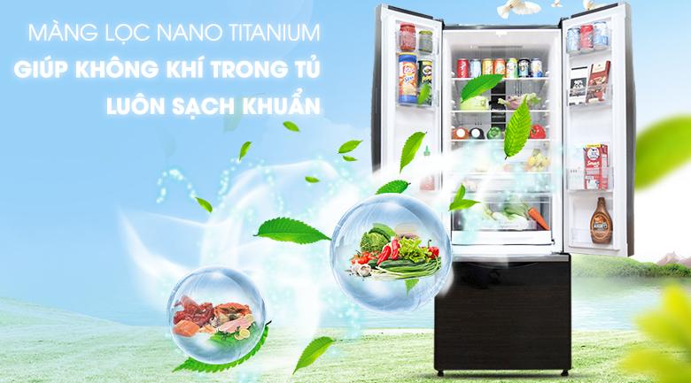 Màng lọc Nano Titanium kháng khuẩn hiệu quả - Tủ lạnh Hitachi Inverter 382 lít R-WB475PGV2 GBK