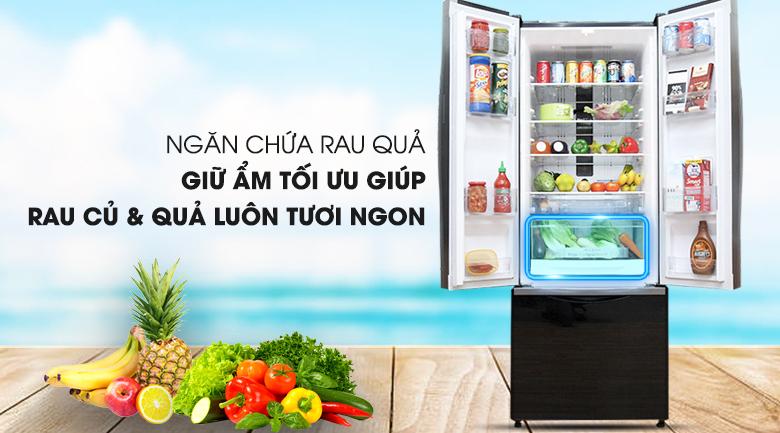 Ngăn chứa rau củ quả tiện dụng  - Tủ lạnh Hitachi Inverter 382 lít R-WB475PGV2 GBK