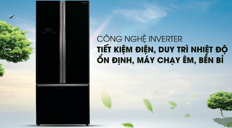 Công nghệ Inverter hiện đại - Tủ lạnh Hitachi Inverter 429 lít R-WB545PGV2 GBK