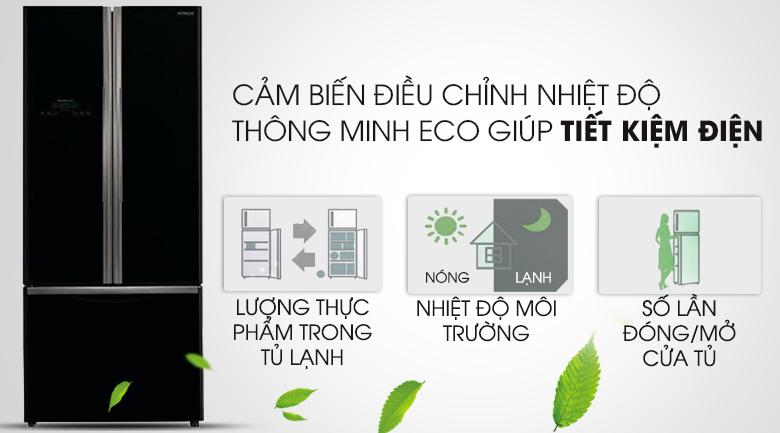 Cảm biến Eco - Tủ lạnh Hitachi Inverter 429 lít R-WB545PGV2 GBK