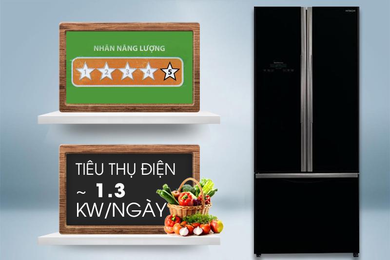 Mỗi ngày, chiếc tủ lạnh nay chỉ tiêu hao khoảng 1.3 kW điện