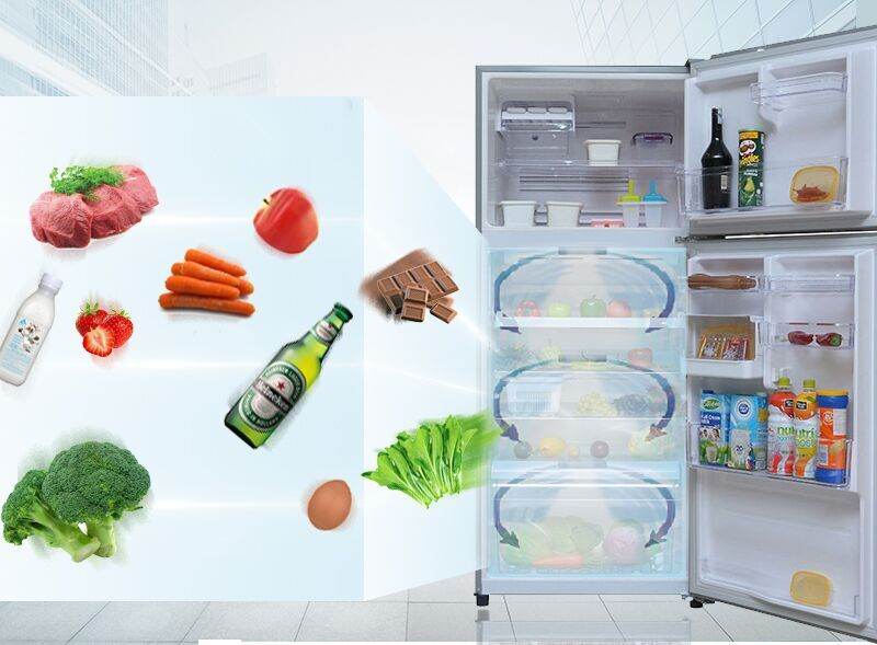Luồng khí lạnh vòng cung mà tủ lạnh Toshiba GR-T41VUBZ FS sở hữu hứa hẹn sẽ mang đến những luồng gió thổi mạnh