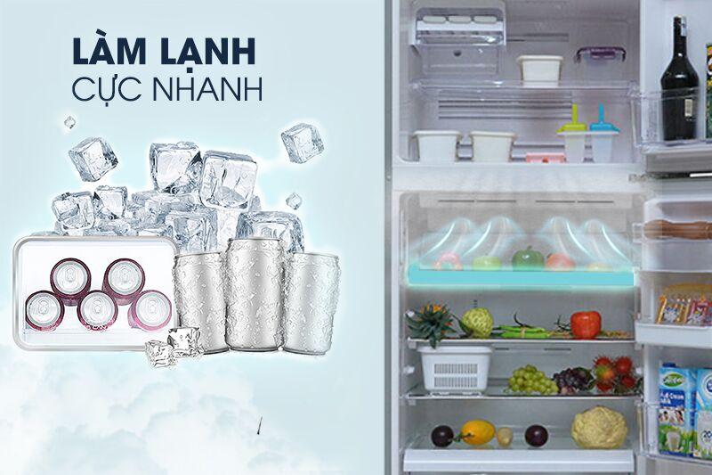 Với ngăn làm lạnh kép Dual Cooling Zone, tủ lạnh Toshiba GR-T41VUBZ FS đem lại một không gian làm lạnh rộng rãi