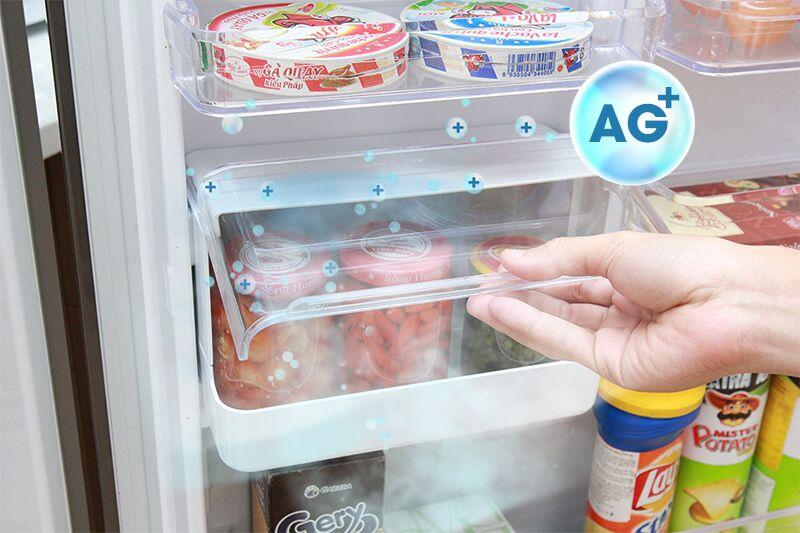 Tủ lạnh Toshiba GR-T41VUBZ FS có hộp tiện ích với chất liệu kháng khuẩn bằng Bạc Ag+