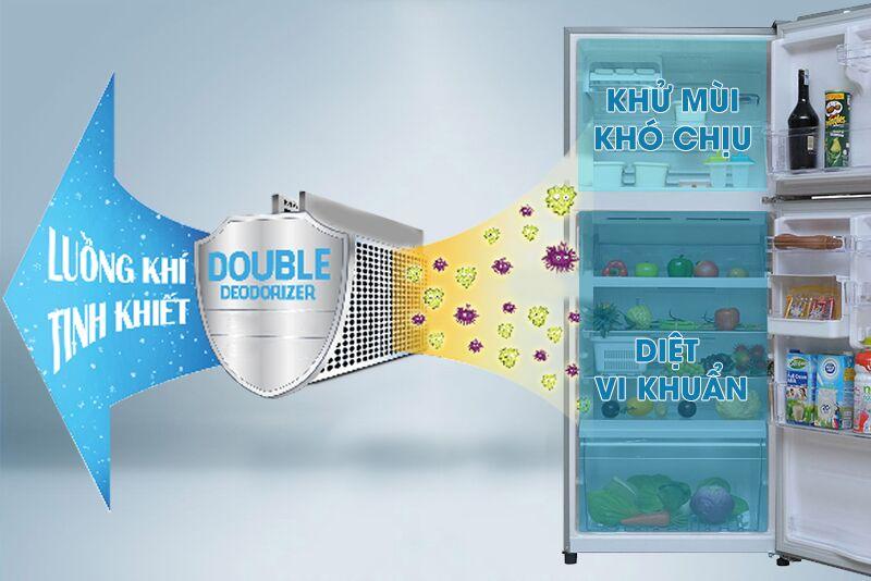 Sử dụng Double Deodorizer, tủ lạnh Toshiba GR-T41VUBZ FS diệt sạch vi khuẩn