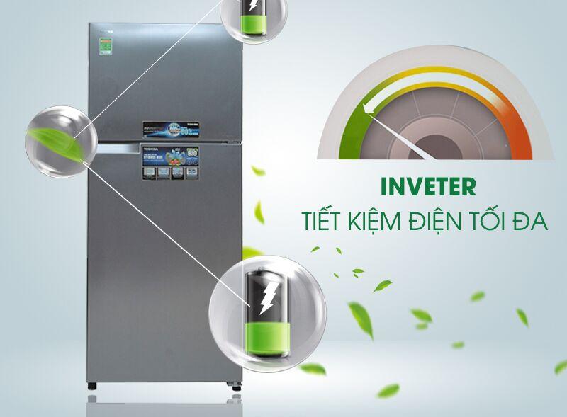 Tủ lạnh Toshiba GR-T41VUBZ FS sử dụng công nghệ Inverter tiết kiệm điện tối ưu cho người dùng