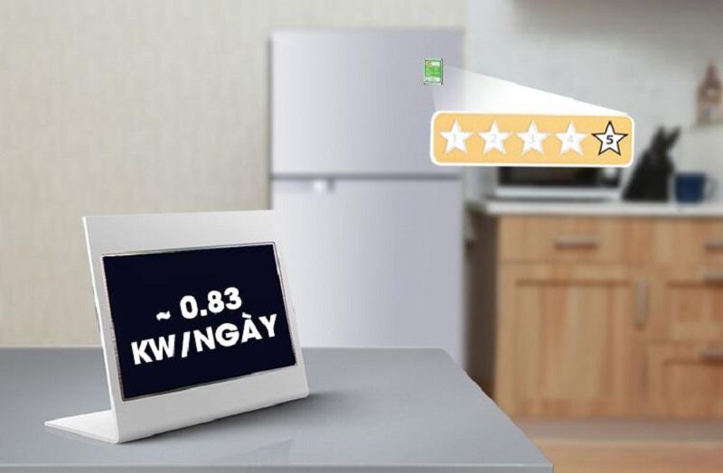 Với công nghệ này, mỗi ngày tủ lạnh chỉ tiêu hao 0.83 kW điện năng