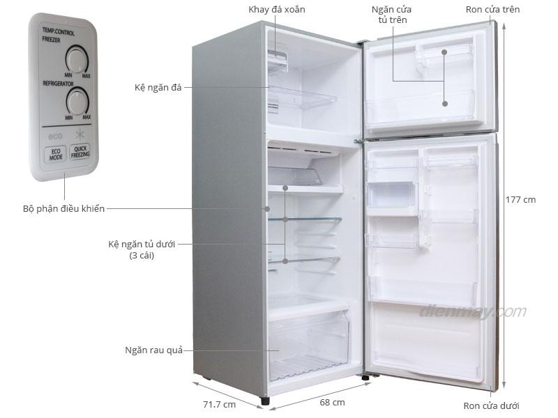 Thông số kỹ thuật Tủ lạnh Toshiba GR-T46VUBZ 409 lít