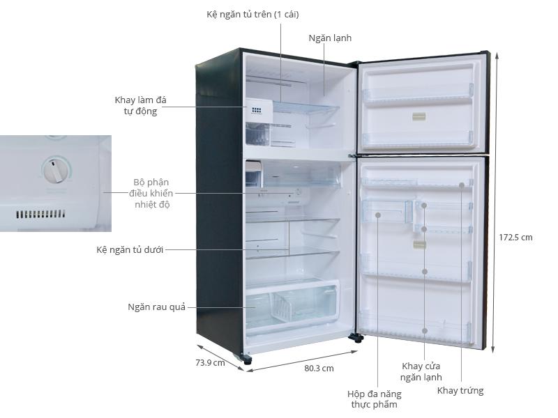 Thông số kỹ thuật Tủ lạnh Toshiba 546 lít GR-WG58VDAZ GG