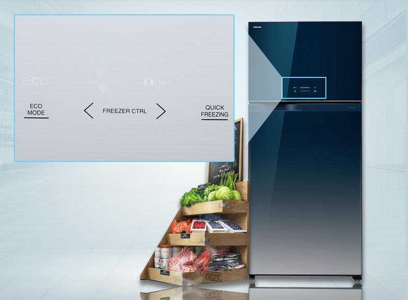 Bảng điều khiển cảm ứng bên ngoài tủ lạnh