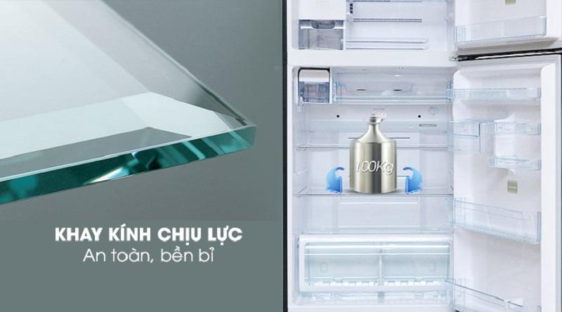 Khay kính chịu lực bền bỉ - Tủ lạnh Toshiba Inverter 546 lít GR-WG58VDAZ