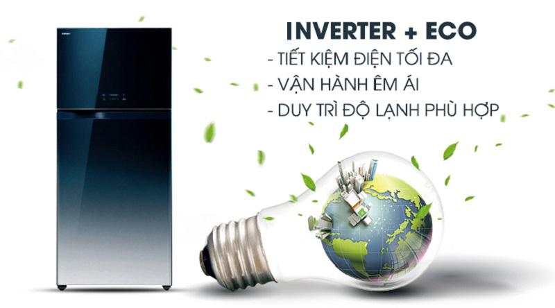 Trang bị công nghệ Inverter, kết hợp cùng cảm biến Eco - Tủ lạnh Toshiba Inverter 546 lít GR-WG58VDAZ