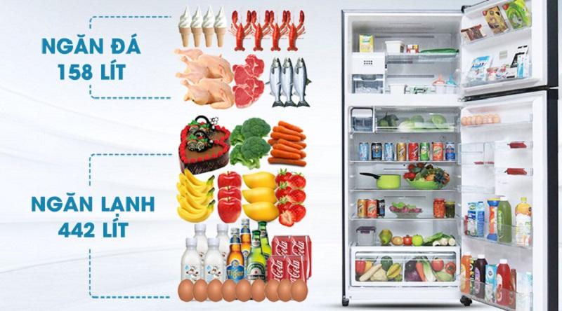 Dung tích lớn, đáp ứng tốt nhu cầu sử dụng - Tủ lạnh Toshiba Inverter 600 lít GR-WG66VDAZ