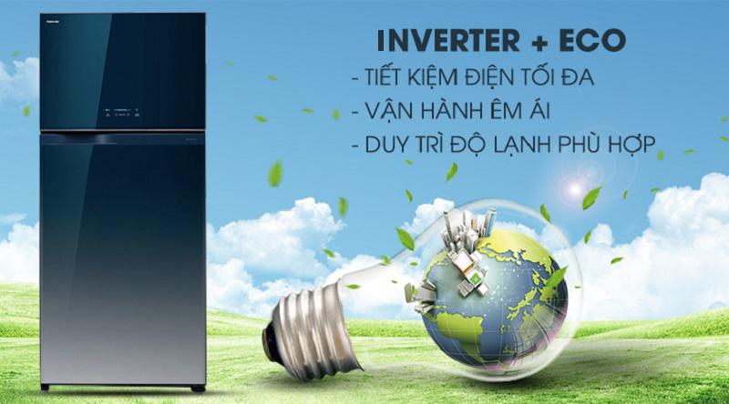Công nghệ inverter tiết kiệm điện năng - Tủ lạnh Toshiba Inverter 600 lít GR-WG66VDAZ