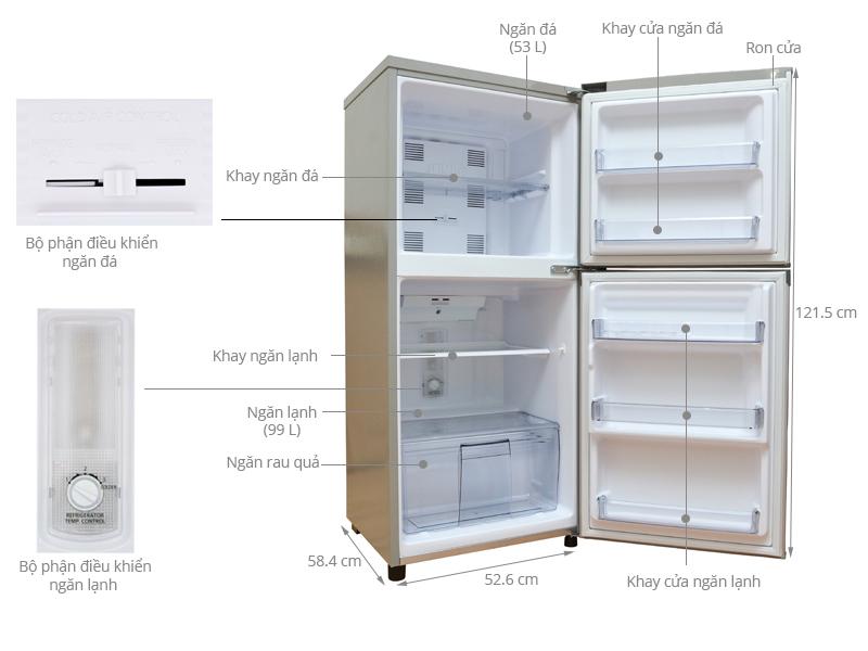 Thông số kỹ thuật Tủ lạnh Panasonic 152 lít NR-BM179