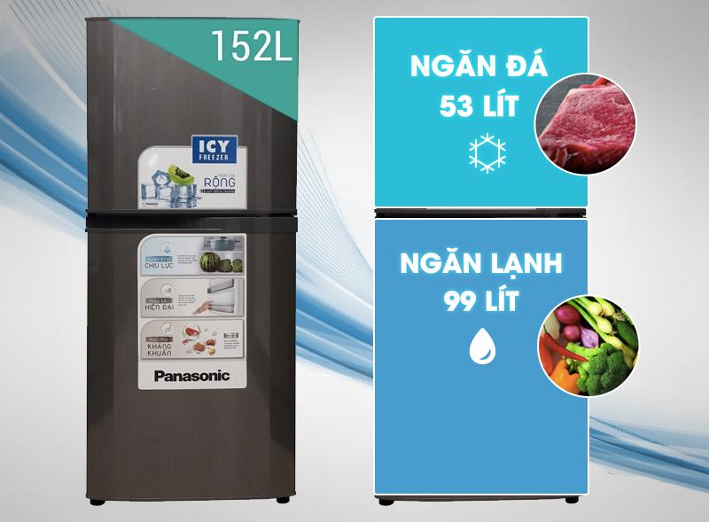 Tủ lạnh Panasonic NR-BM179MTVN 152 lí