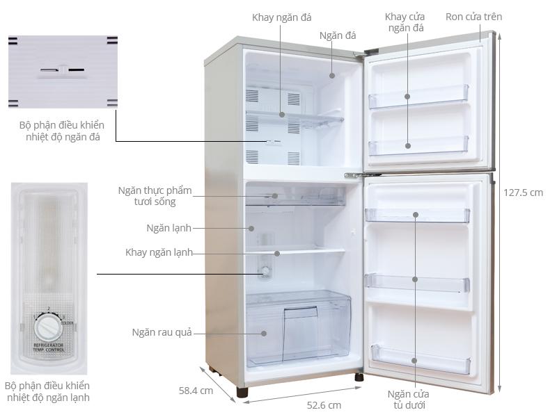 Thông số kỹ thuật Tủ lạnh Panasonic 167 lít NR-BM189