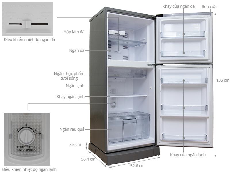 Thông số kỹ thuật Tủ lạnh Panasonic 167 lít NR-BM189MTVN